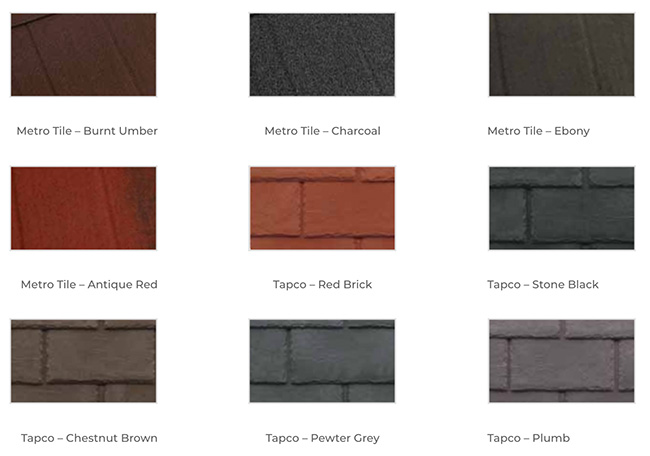 ExtraLight Roof Tiles - Standard Options